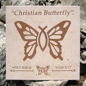 """Christian Butterfly""® Art Display Tile"