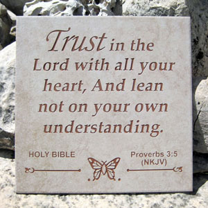 Proverbs 3:5 Scripture Display Tile