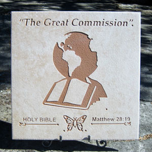 """The Great Commission""® Art Display Tile"