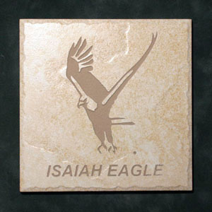"""Isaiah Eagle""™ Etched Tile"