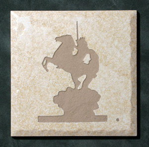 """The Coming King""® Etched Tile"