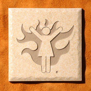 """Women On Fire""™ Etched Tile"